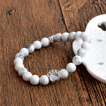 Dog Paw Natural Stone Bracelet