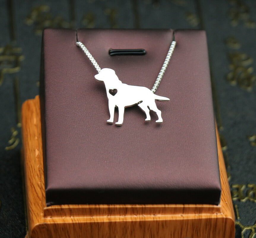 Silver Labrador Retriever Necklace