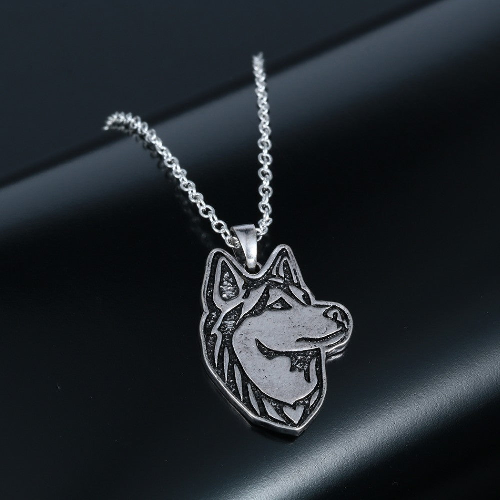 Handmade Siberian Husky Necklace