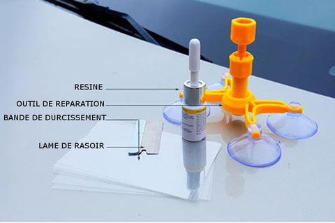 kit de reparation part-brise