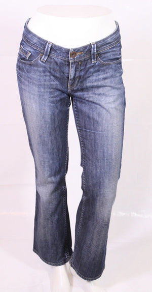 BJ1-33 Esprit smart straight Damen Jeans blau W28 L30 Stretch used look