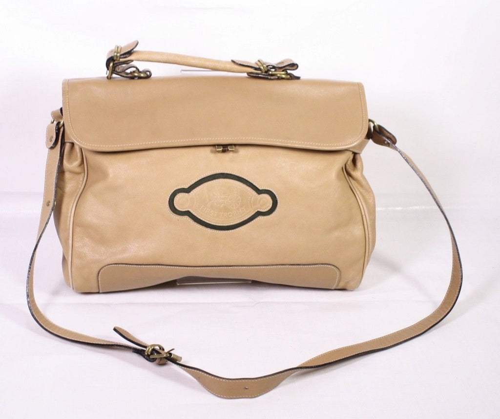 B8 Ciella Damen Business Tasche Shopper Leder beige Satchel Bag groß Vintage
