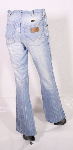 BJ2-12 Wrangler 110010 Bootcut Damen Jeans blau W28 L32 Stretch used-look