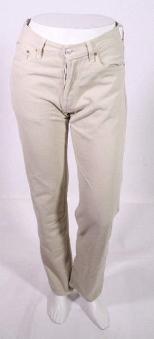 BJ2-8 Levis 501 Herren Jeans W30 L30 beige straight leg Button Fly Classic-Fit