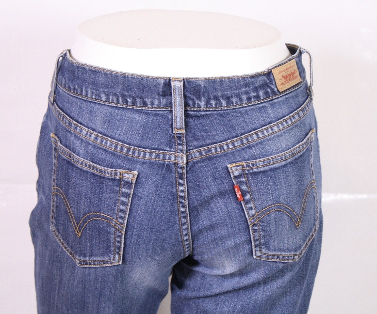 BJ1-59 Levis Damen Bootcut Jeans blau W31  L32 Stretch used look