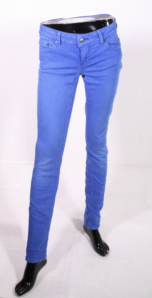 BJ3-65 ONLY Damen Skinny Jeans W27 L34 Denim blau Stretch low waist