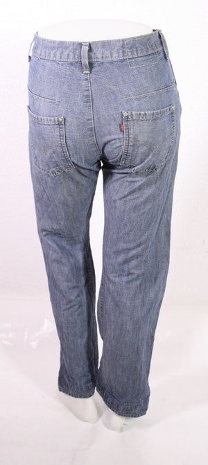 BJ3-7 Levis Lot 001  Herren Engineered Jeans W28 L32 blau verdrehtes Bein
