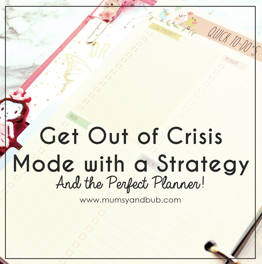 Get Out of Crisis Mode with a Strategy (and the Perfect Planner!)