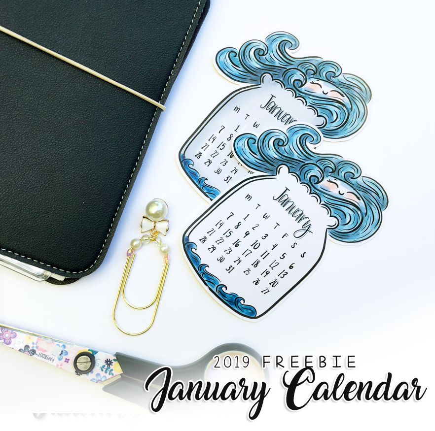 Free Downloadable Calendar for January 2019