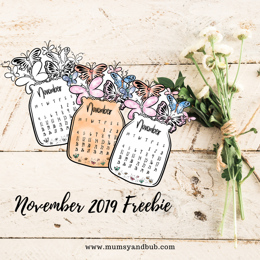 Free Downloadable Calendar for November 2019