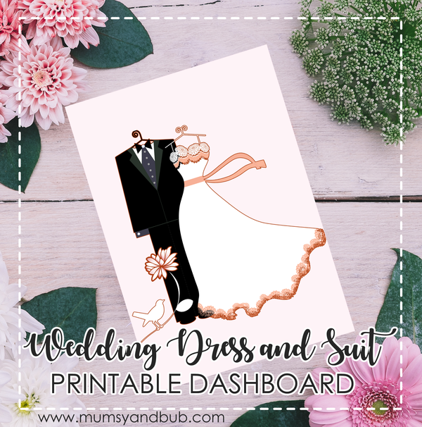 Wedding Dress and Suit Printable Dashboard