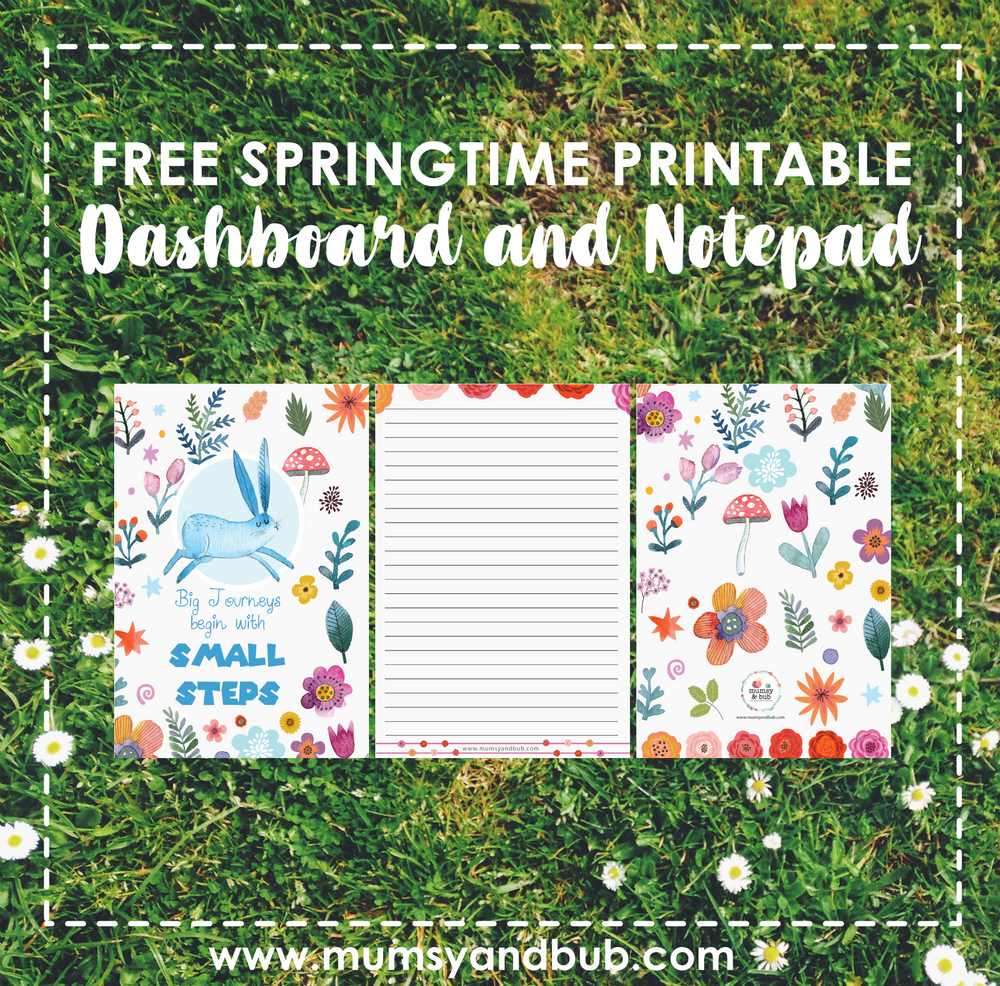 Springtime Printable Dashboard and Notepad