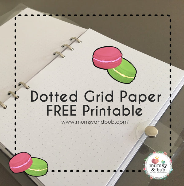 Dotted Grid Paper FREE Printable