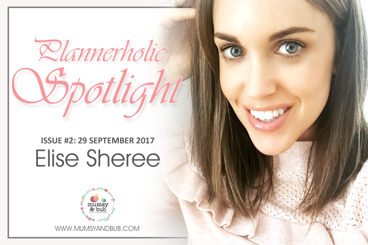 Plannerholic Spotlight for September feat. Elise Sheree