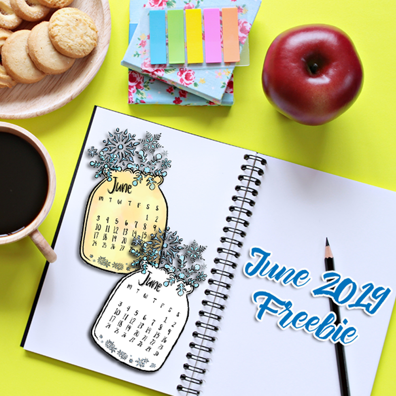 Free Downdoable Calendar for June 2019