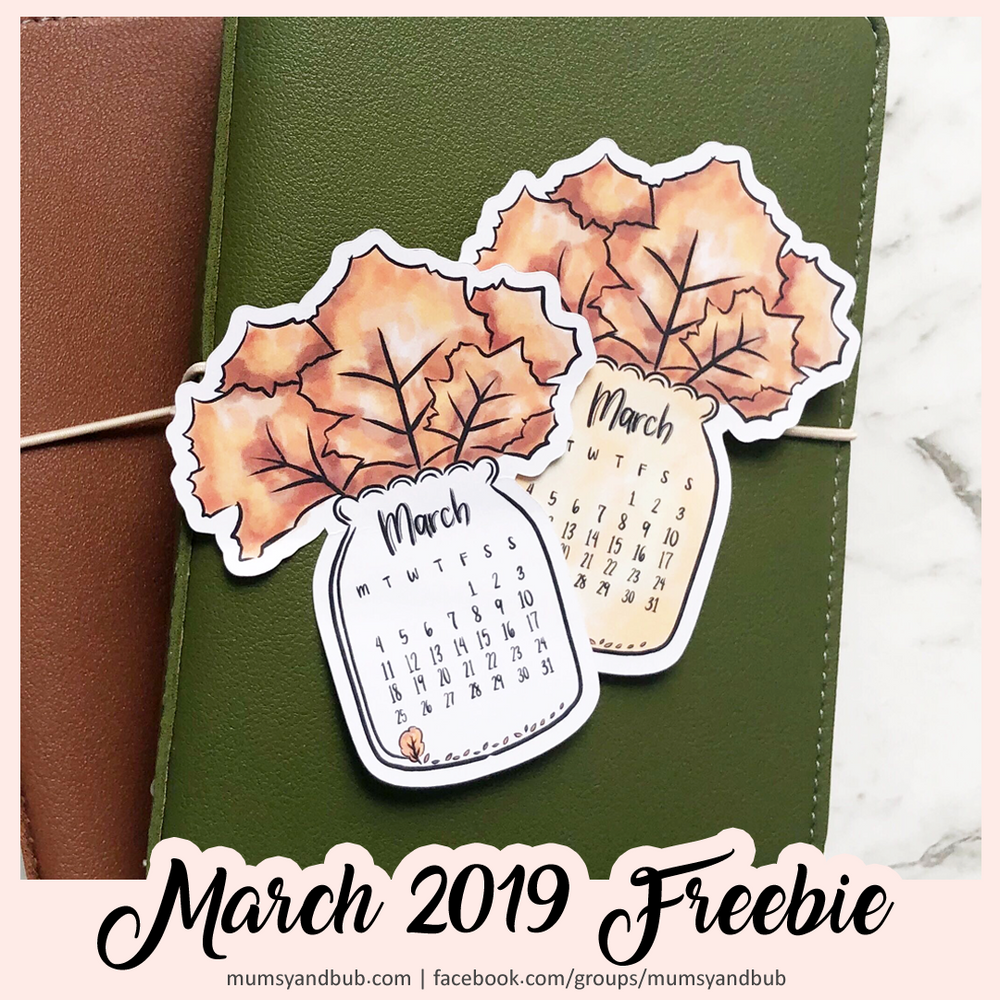 Free Downloadable Calendar for March 2019