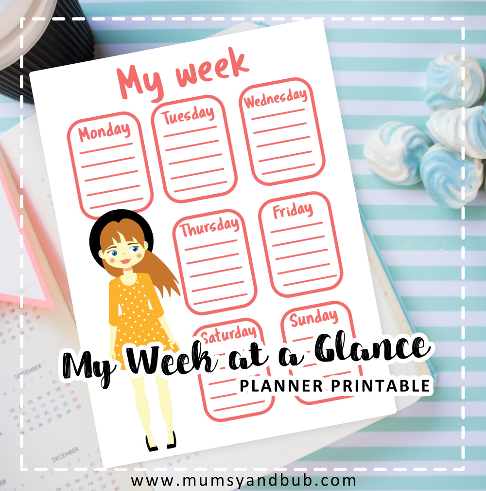 My Week at a Glance Planner Printable