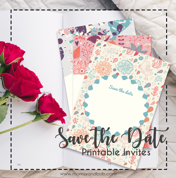 Save the Date Printable Invites