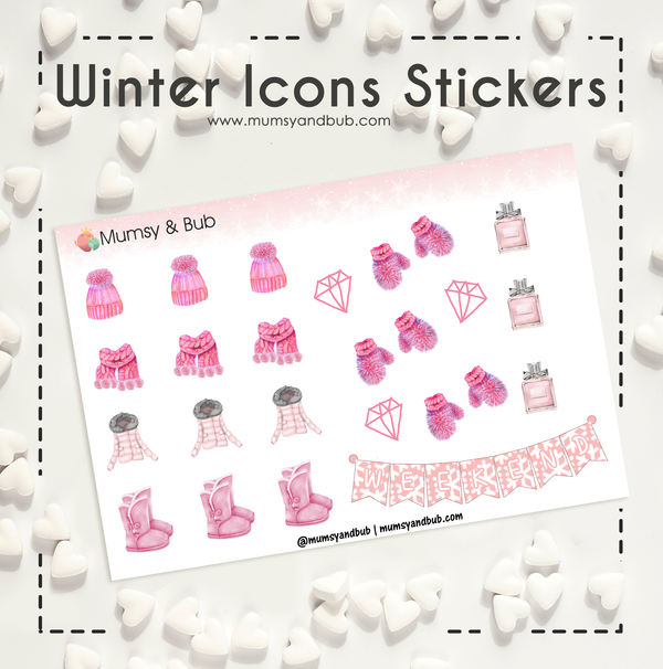 Winter Icons Stickers