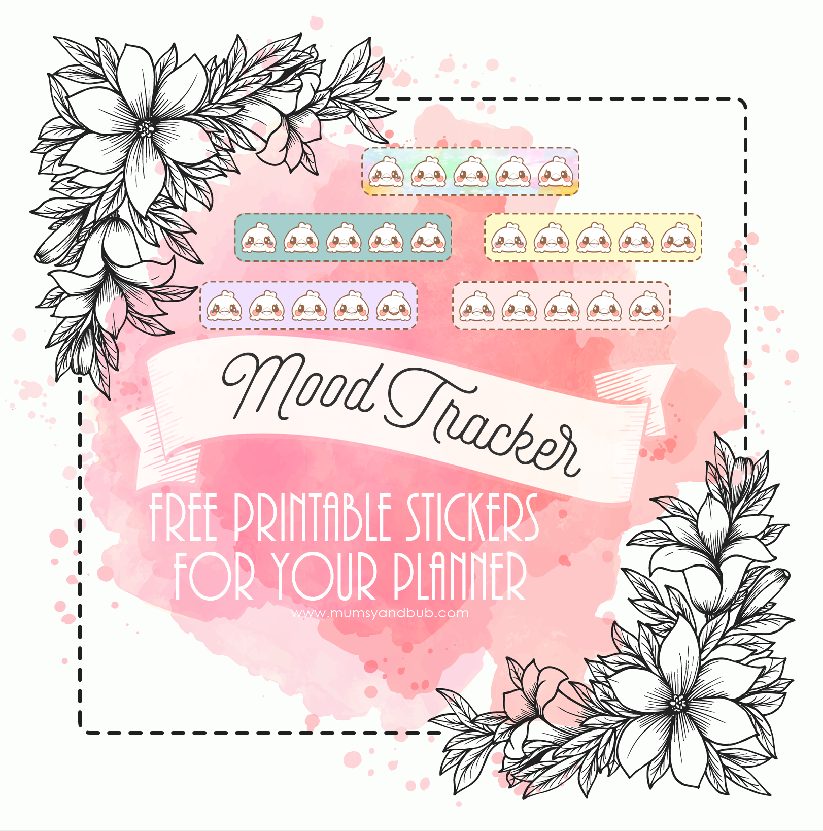 image relating to Printable Mood Tracker titled Temper Tracker - Cost-free Printable Stickers for your Planner