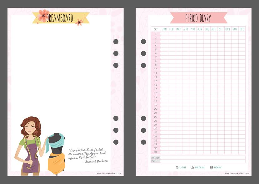 mum planner - princess - dreamboard