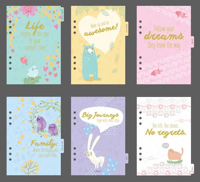 mum planner - periwinkle - cover pages