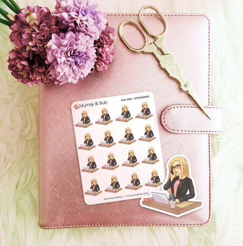boss babe stickers blonde