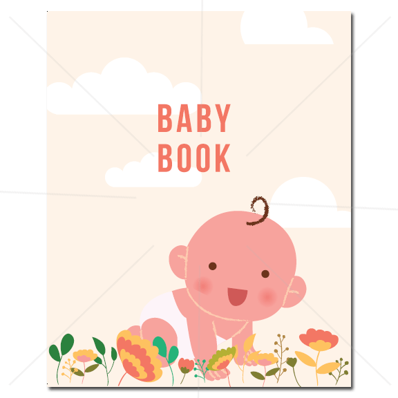 Baby Book - Animals Floral - Cover