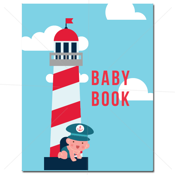 Baby Book - Nautical - Cover