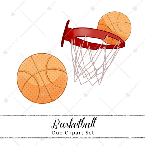 Duo Clipart Set - Basketball