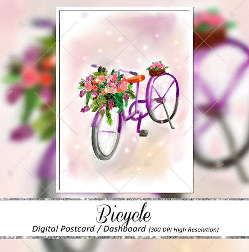 Postcard - Bicycle