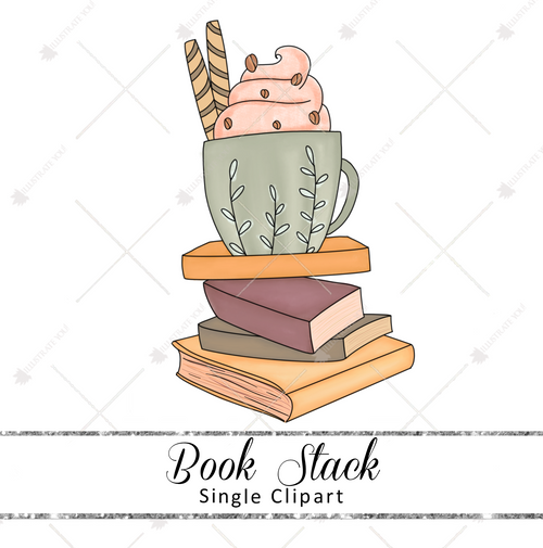 Single Clipart - Book Stack