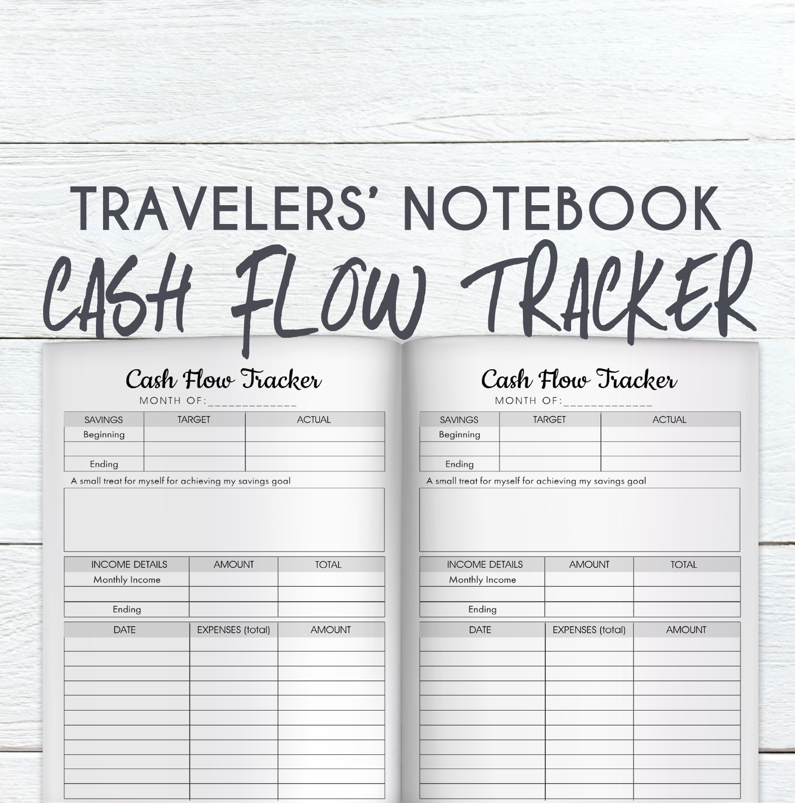 b6 tn cash flow tracker printable sheet mumsy and bub
