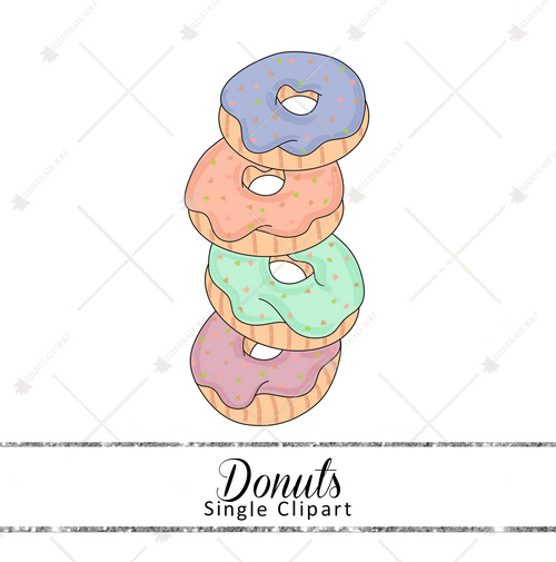Single Clipart - Donuts