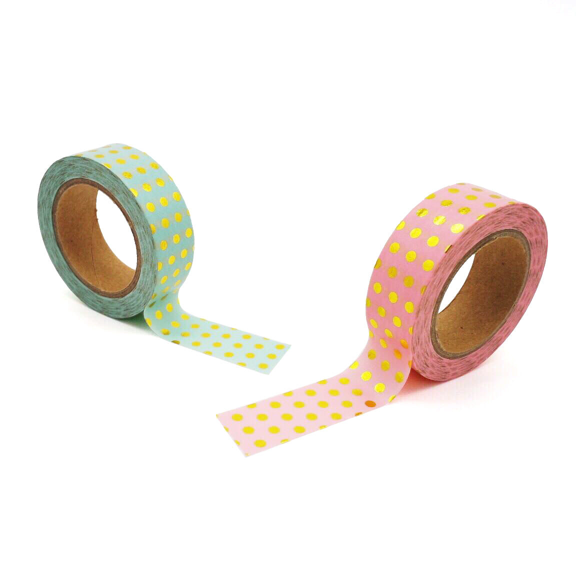 Foiled Polka Washi Tape Duo