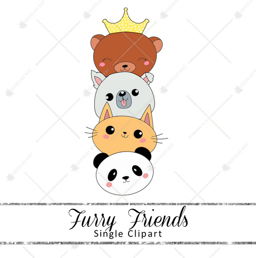 Single Clipart - Furry Friends