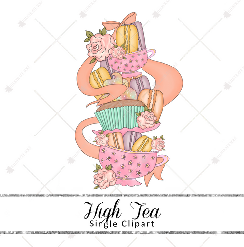 Single Clipart - High Tea