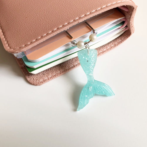 Mermaid Tail Paperclip Charm (Teal)