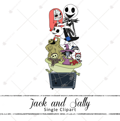Single Clipart - Jack & Sally
