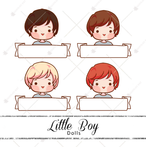 Dolls - Little Boy Name Tag