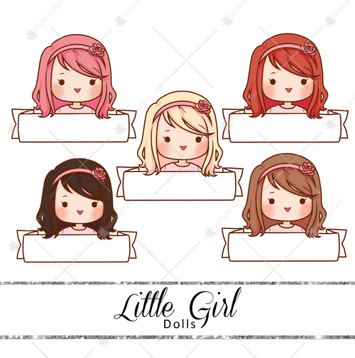 Dolls - Little Girl Name Tag