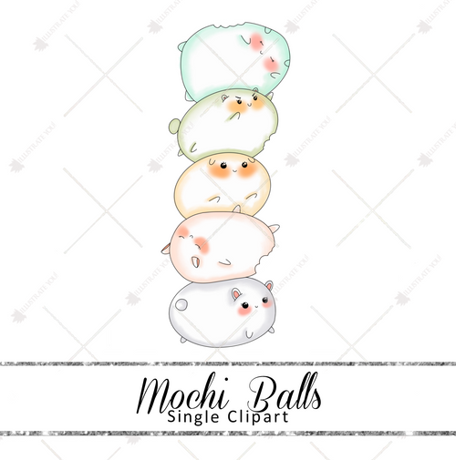 Single Clipart - Mochi Balls