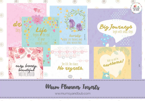 mum planner inserts - cover pages