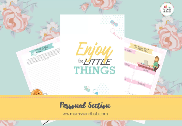mum planner inserts - personal section