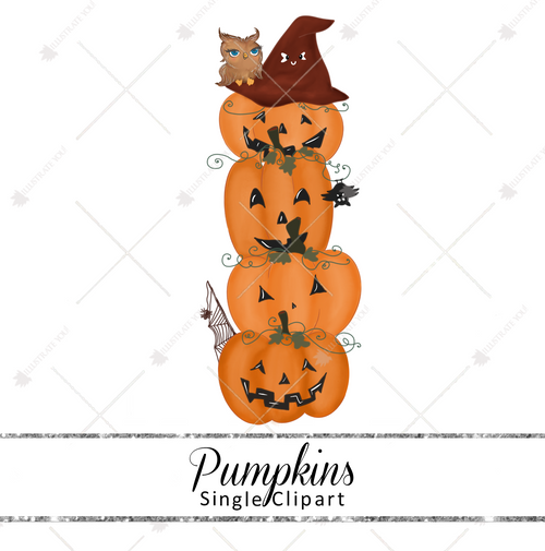 Single Clipart - Pumpkins
