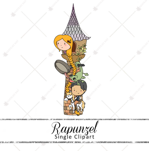 Single Clipart - Rapunzel