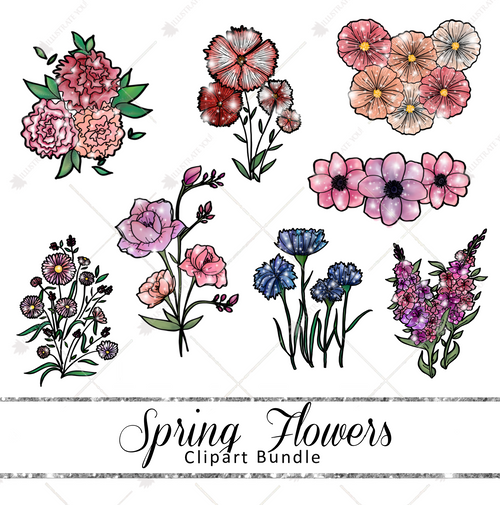 Clipart Bundle - Spring Flowers