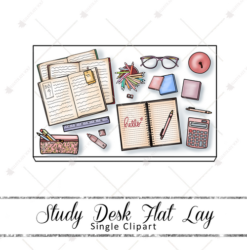 Single Clipart - Study Desk