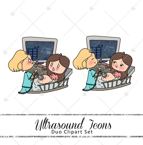 Duo Clipart Set - Ultrasound Icons
