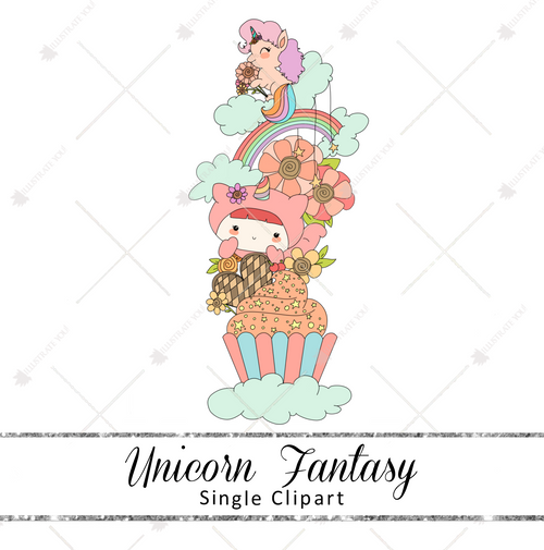 Single Clipart - Unicorn Fantasy